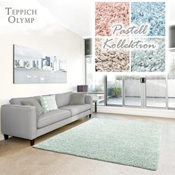 shaggy teppich pastell flauschige hochflor teppiche f rs wohnzimmer esszimmer schlafzimmer. Black Bedroom Furniture Sets. Home Design Ideas