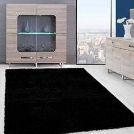 Einfarbig Shaggy Teppiche OEKOTEX Zertifizierte Teppiche. Schwarz Rot Beige  Mocca Cream Pink. Verschiedene Farben Und Größe 9000, Farbe:Schwarz, ...